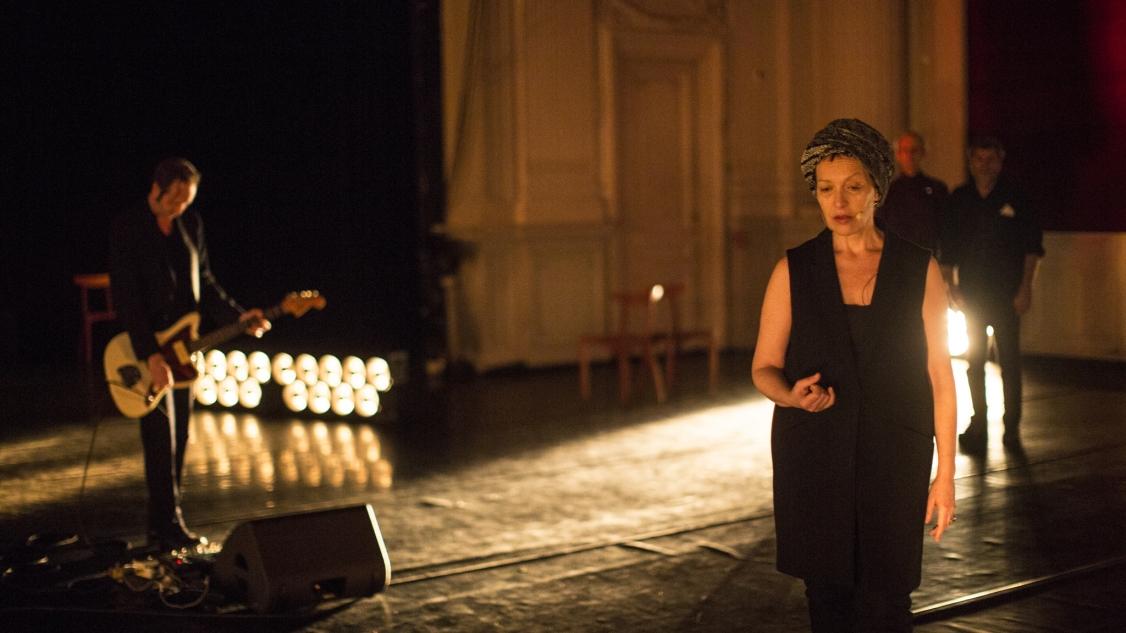 Nova — oratorio – Rothko - Claire ingrid Cottanceau - Olivier Mellano - Thierry Thieû Niang © Jean-Louis Fernandez
