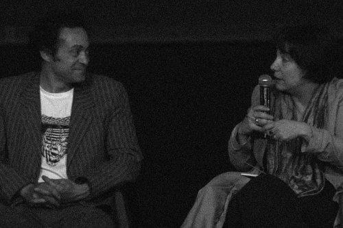 Lazare et Hortense Archambault lors d'une rencontre au Théâtre Louis Aragon (Tremblay-en-France)